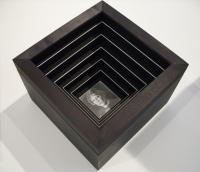 Framed for floor: Mdf, birch, cardboard, paper, 20 x 29,7 x 29,7 cm